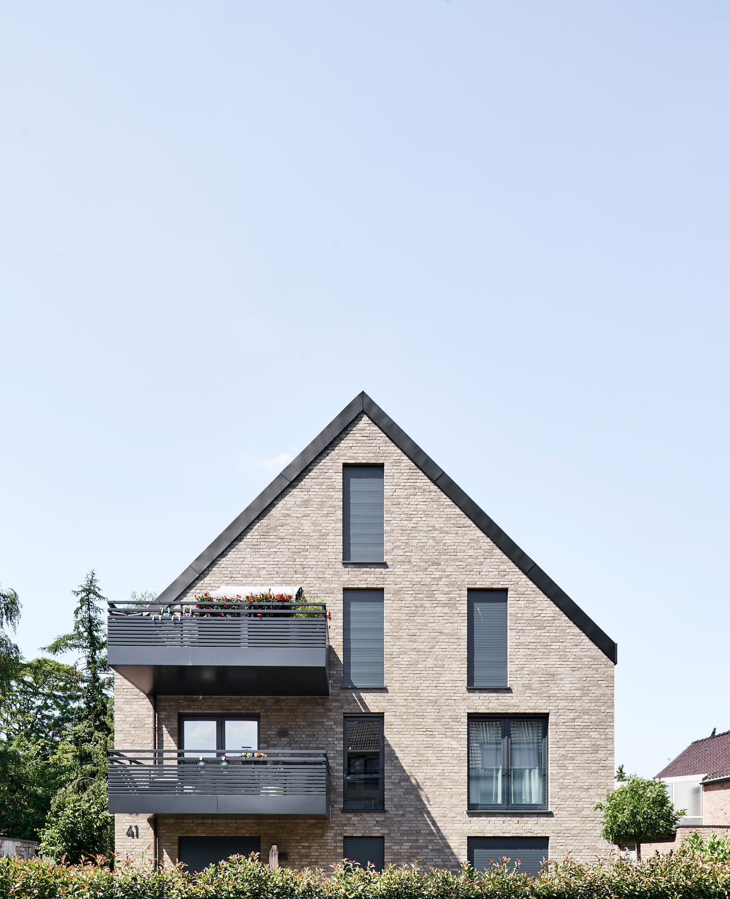 Neubau Mehrfamilienhaus in Düsseldorf, Hamm Foto: Annika Feuss